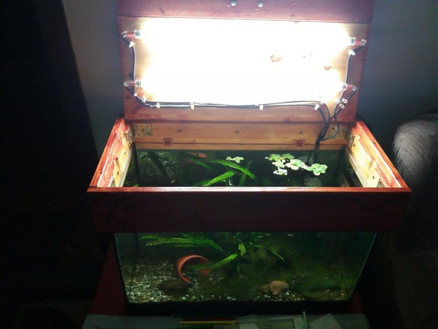 Výroba krytu na 54 litrové akvárium